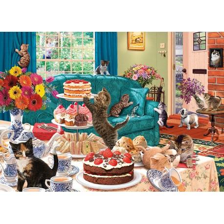 Feline Frenzy 1000 piece jigsaw puzzle Steve Read