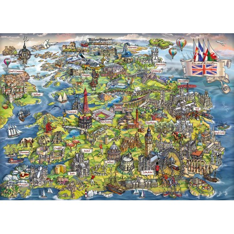 Beautiful Britain 1000 piece puzzle Maria Rabinsky