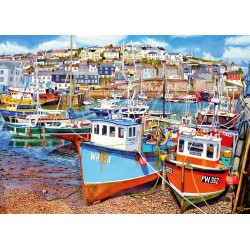 Mevagissey Harbour 500XL piece puzzle Roger Neil Turner