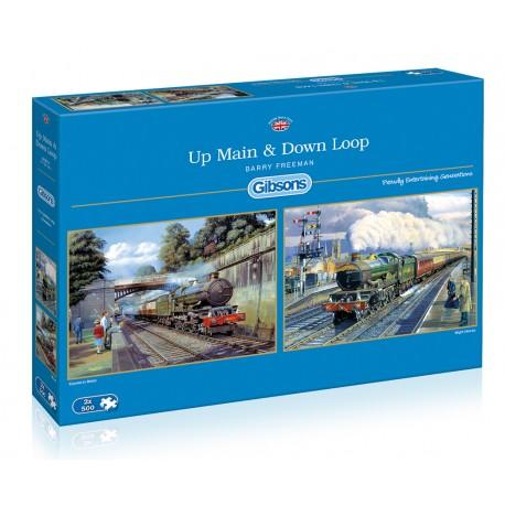 Up Main & Down Loop 2x500 Jigsaw Puzzle Barry Freeman