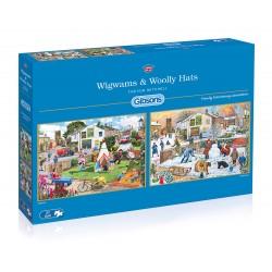 Wigwams & Woolly Hats 2x500 Jigsaw Puzzle