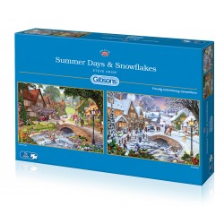 Summer Days & Snowflakes 2x500 Jigsaw Puzzle