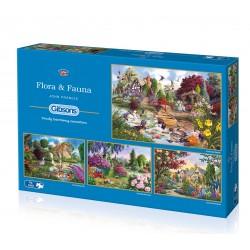 Flora & Fauna 4x500 Jigsaw Puzzle