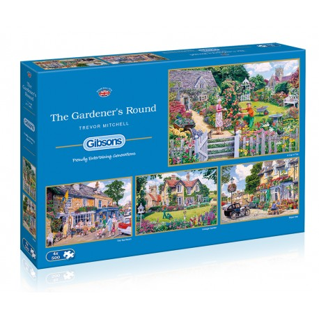 The Gardener's Round 4x500 Jigsaw