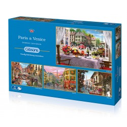 Paris & Venice 4x500 Jigsaw