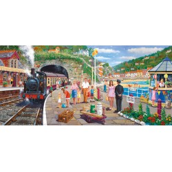 Seaside Train 636 piece jigsaw puzzle