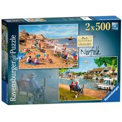 Ravensburger Picturesque Norfolk 2 x 500 piece nostalgic jigsaw puzzles