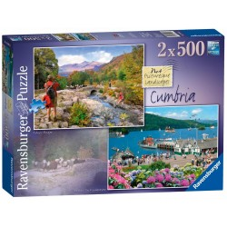 Ravensburger Picturesque Cumbria, 2 x 500 Pieces Jigsaw Puzzles
