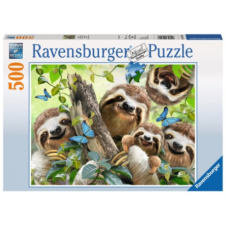 Ravensburger Sloth Selfie by Howard Robinson 500 piece animal jigsaw puzzle