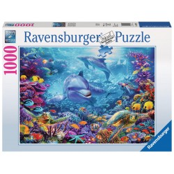 Ravensburger Magnificent Underwater World 1000 piece dolphin jigsaw puzzle