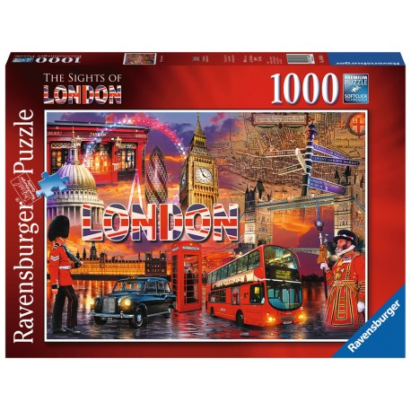 Ravensburger The Sights of London 1000 piece city landmarks jigsaw puzzle