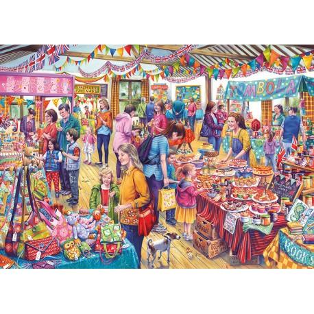 Village Tombola 1000pc Jigsaw Puzzle