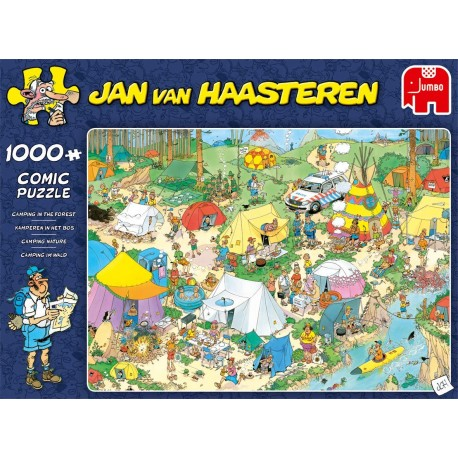 Jan van Haasteren- Camping in the Forest- 1000 piece Jigsaw Puzzle
