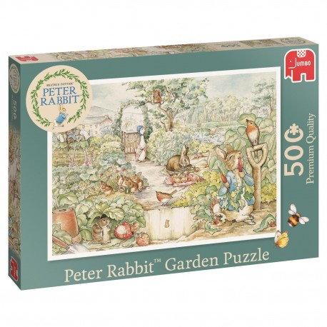 Peter Rabbit Garden Puzzle- Jumbo Games 500 piece Jigsaw
