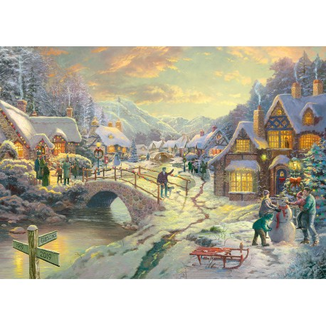 Snowfall at Sundown 1000pc Jigsaw Puzzle Thomas Kinkade