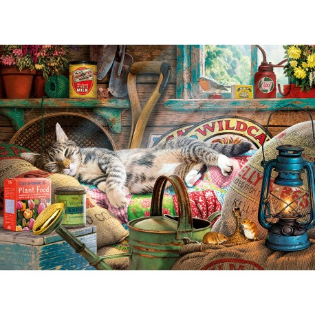 Snoozing in the Shed 500XLpc Jigsaw