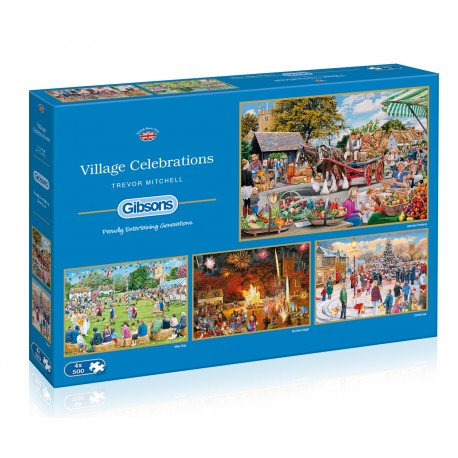 Village Celebrations 4x500pc Jigsaw