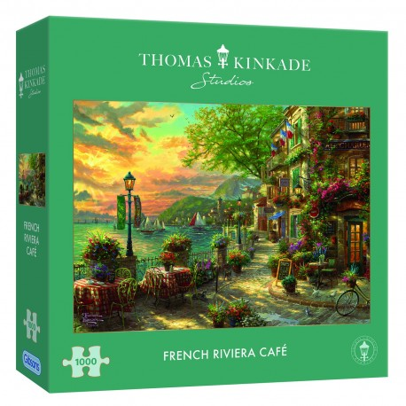 French Riviera 1000pc Jigsaw Puzzle Thomas Kinkade