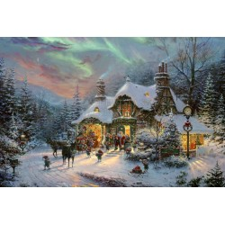 Santas night before Christmas 1000pc Jigsaw Puzzle Thomas Kinkade