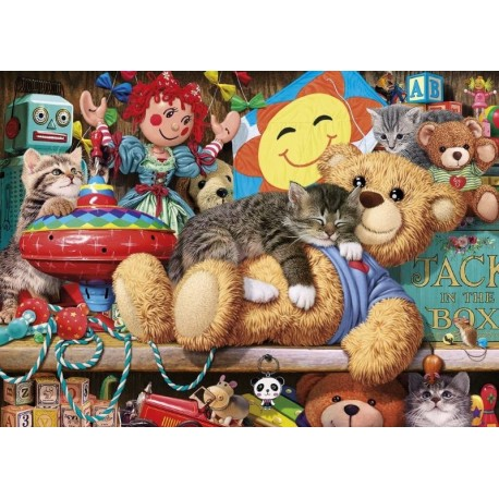 Snoozing on the Ted - 1000 Pieces Jigsaw Puzzle