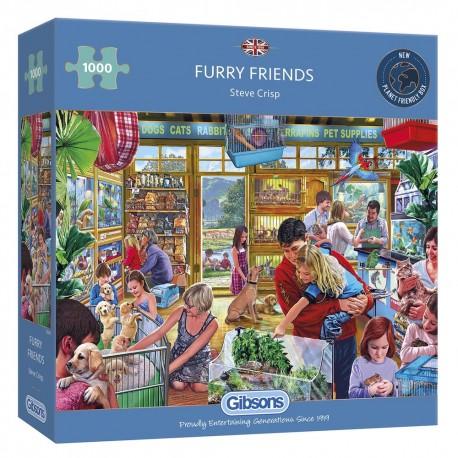 FURRY FRIENDS 1000 PIECE JIGSAW PUZZLE