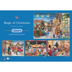 MAGIC OF CHRISTMAS 4X500 PIECE JIGSAW PUZZLE