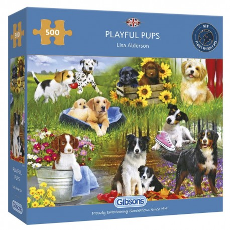 Playful Pups 500 Piece Jigsaw Puzzle