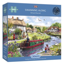 Swanning Along 1000 Piece Jigsaw Puzzle