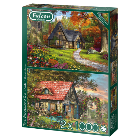 The Woodland Cottage 2 x 1000 Pieces
