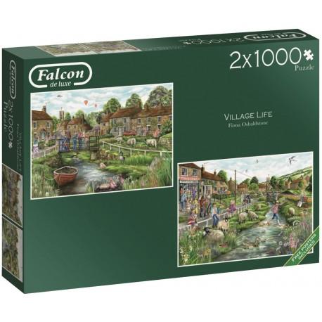 Village Life 2 x 1000 Piece Jigsaw Puzzle