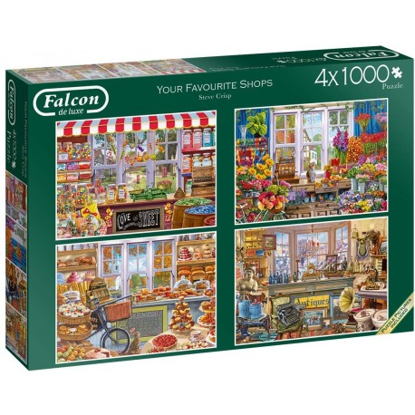 Your Favourite Shops 4 x 1000 Piece Jigsaw Puzzles