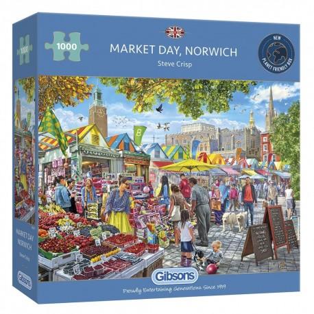 Market Day, Norwich 1000 Piece Jigsaw Puzzle