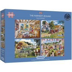 Gibsons The Farmer's Round 4x500 Piece Jigsaw Puzzle