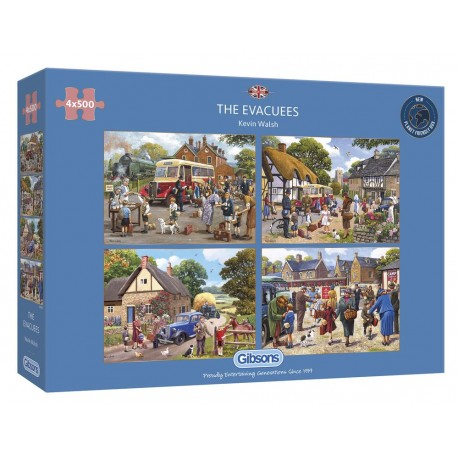 The Evacuees 4x500 Piece Jigsaw Puzzle