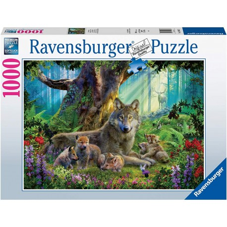 Wolves in The Forest 1000 Piece Jigsaw Puzzle