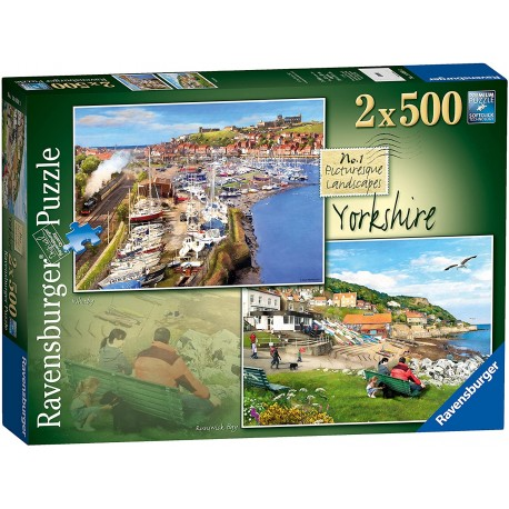 Yorkshire - Whitby & Runswick Bay, 2x 500pc Jigsaw Puzzle