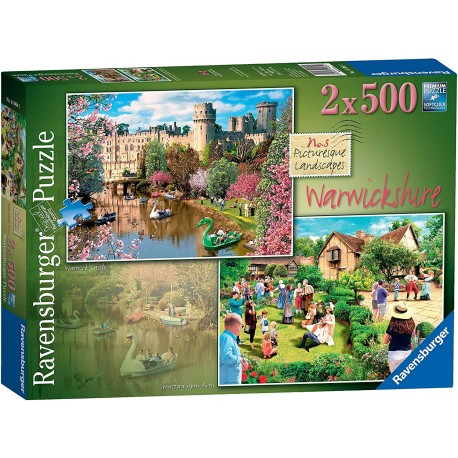 Ravensburger Picturesque Landscapes Warwickshire No.5 2x 500pc Jigsaw Puzzle