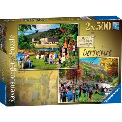 Derbyshire-Chatsworth & Dovedale 2X 500pc Jigsaw Puzzle
