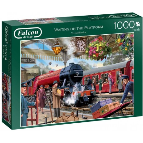 Waiting on The Platform 1000 Piece Jigsaw Puzzle