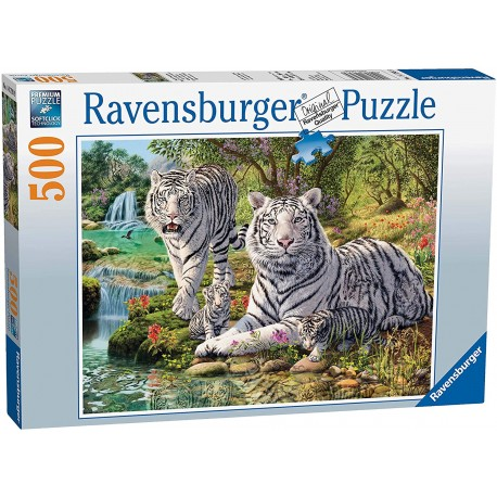 White Tigers 500 piece Jigsaw Puzzle