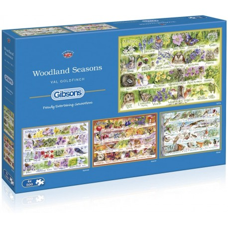 Woodland Seasons 4x500 Piece Jigsaw Puzzle