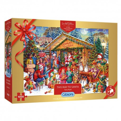 Gibsons Christmas Limited Edition - This Way to Santa 1000 Piece Jigsaw Puzzle
