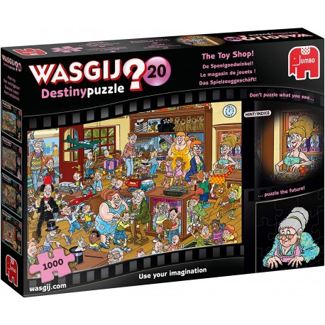 Jumbo 19171 Wasgij Destiny 20-The Toy Shop 1000 Piece Jigsaw Puzzle