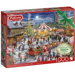 The Christmas Carousel 2 x 1,000. Free 1,000 Piece Puzzle