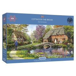 Cottage by the Brook - 636 Piece Jigsaw Puzzles|Gibsons