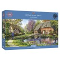 Cottage by the Brook - 636 Piece Jigsaw Puzzle