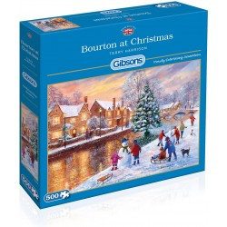Gibsons Bourton at Christmas 500 Piece Jigsaw Puzzle
