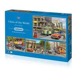 Cities of the World 4x500 Jigsaw