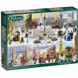 A Winter in London 1000 piece Jigsaw Puzzle