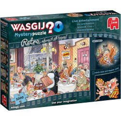 Jumbo 19177 Wasgij Retro Mystery 4 - Live Entertainment 1000 piece Jigsaw Puzzle